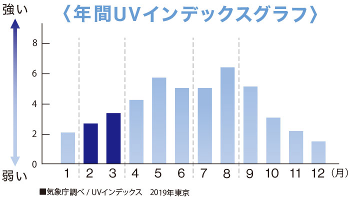 年間UVインデックスグラフ