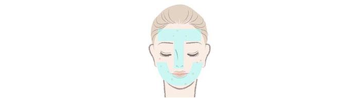 肌のTゾーンとUゾーンの図説